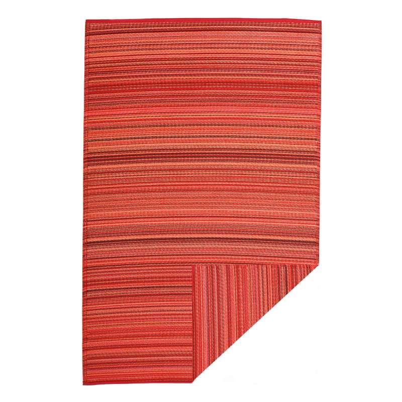 Fab Hab Outdoorteppich Cancun Sunset aus recyceltem Plastik rot/orange 150x240 cm