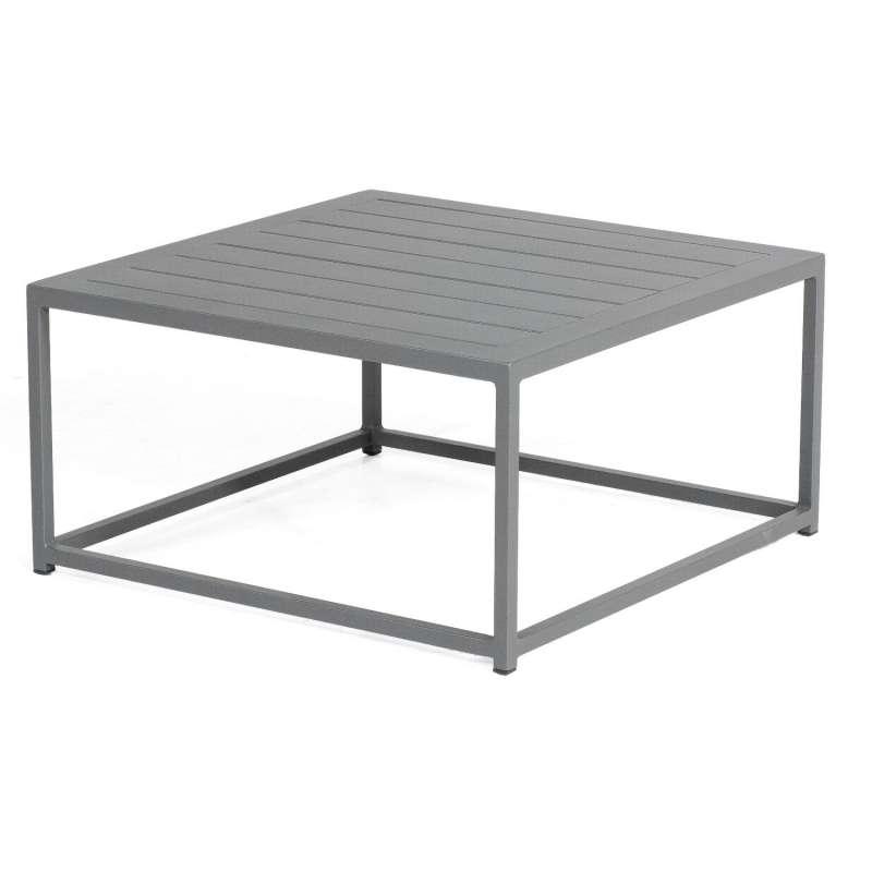 Sonnenpartner Lounge-Tisch Basic Aluminium 70x70 cm anthrazit Loungetisch Beistelltisch