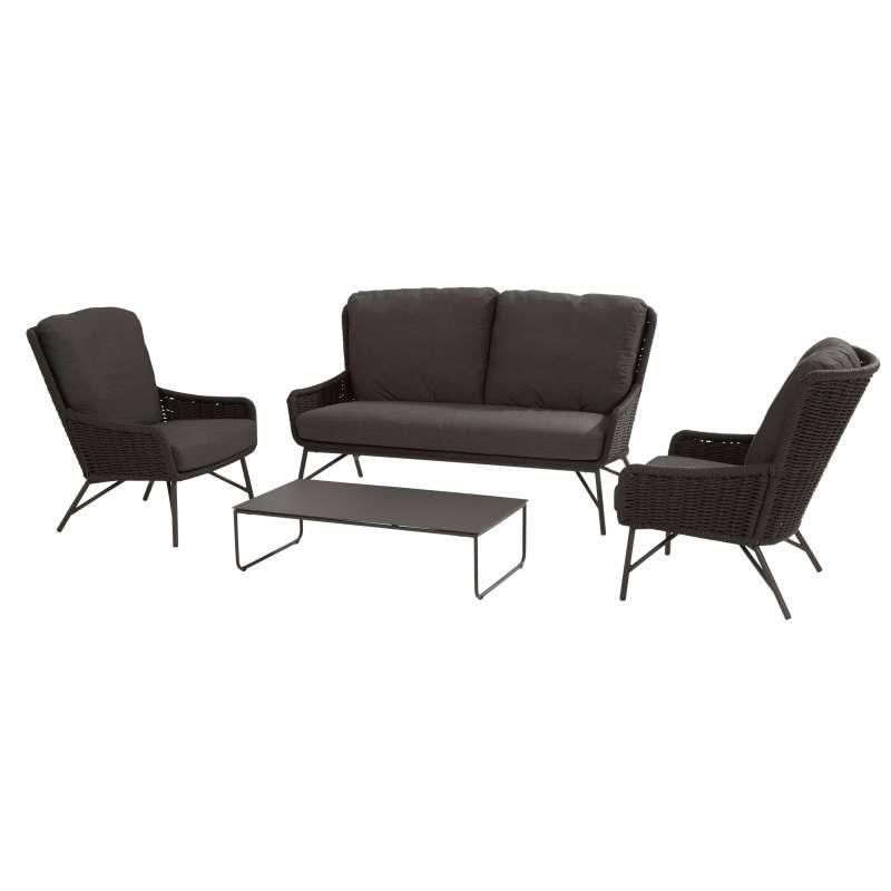 4Seasons Outdoor Wing Living 4-teilige Loungegruppe mit Tisch Anthrazit