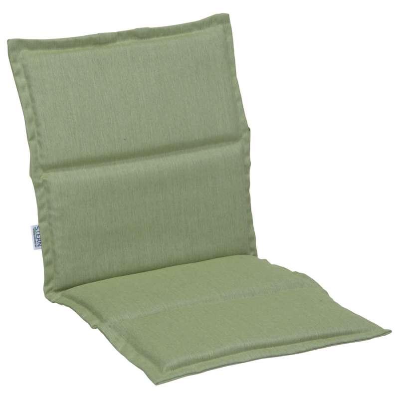 Stern Auflage für Stapelsessel Outdoorstoff farngrün uni 93x46 cm Universalauflage Sitzkissen