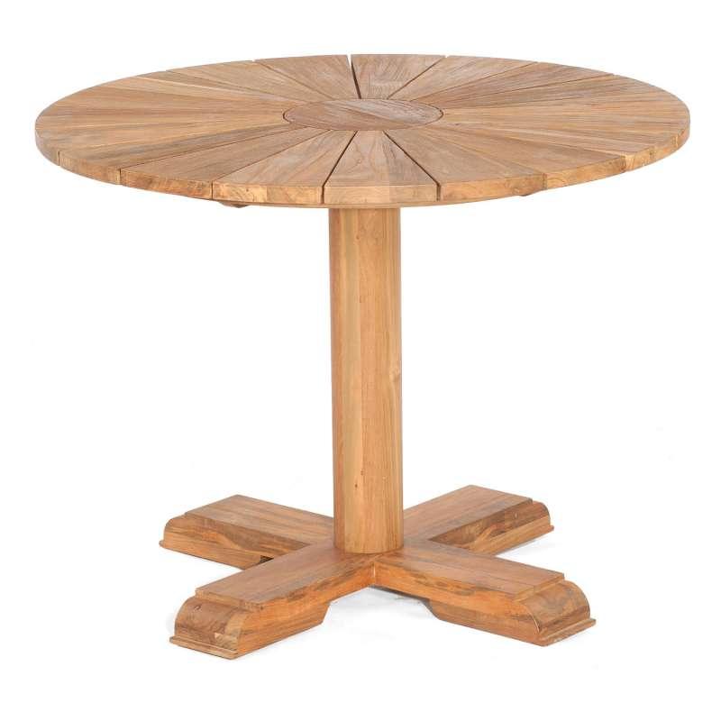 Sonnenpartner Gartentisch Solis rund Ø 100 cm Teakholz Old Teak Tisch Esstisch