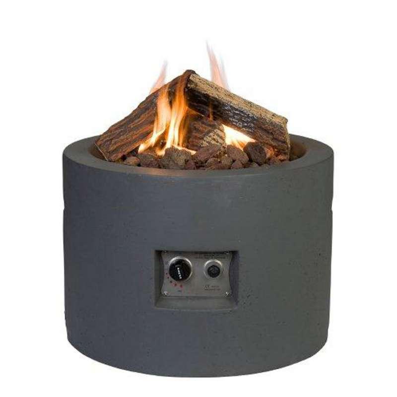 Happy Cocooning Mania Feuertisch 19,5 kW rund 61x61x42 cm Beton-Optik schwarz