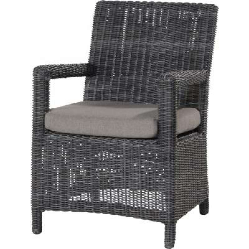 4Seasons Outdoor Somerset dining Sessel Polyrattan charcoal Wicker ...