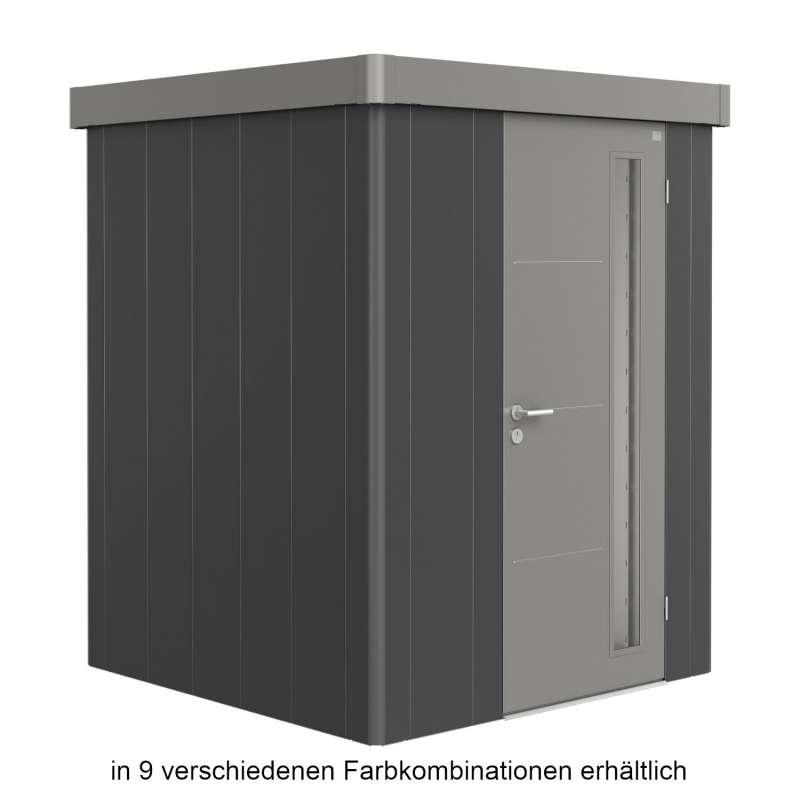 Biohort Gerätehaus Neo 1A 180x180x222 cm Standardtür in 9 verschiedenen Farben Gartenhaus