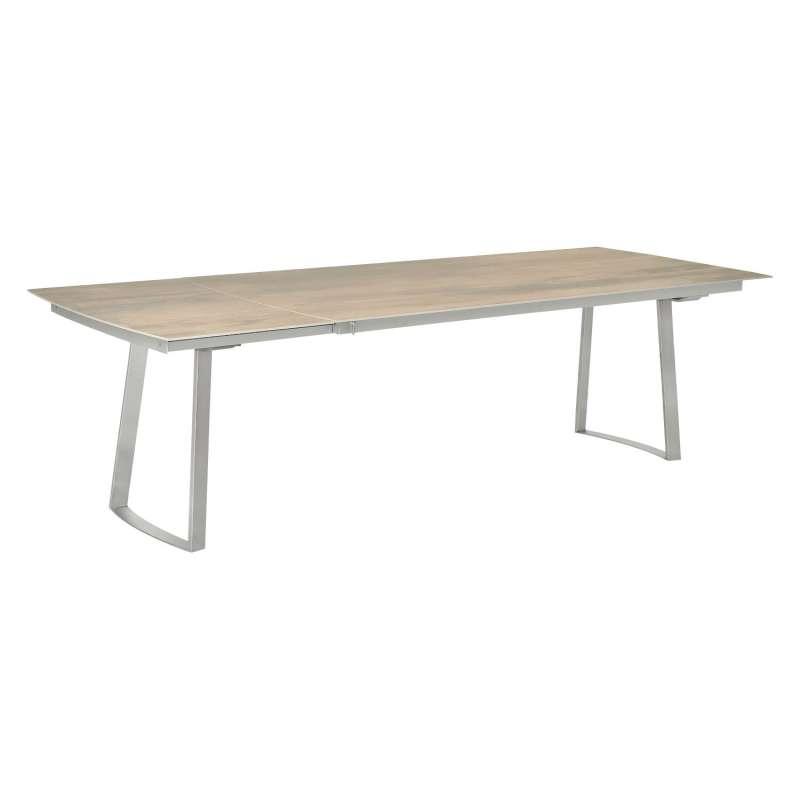 SIT Mobilia Gartentisch Olympia Tomba Edelstahl/wählbare Tischplatte 240x95 cm Tisch Kufentisch