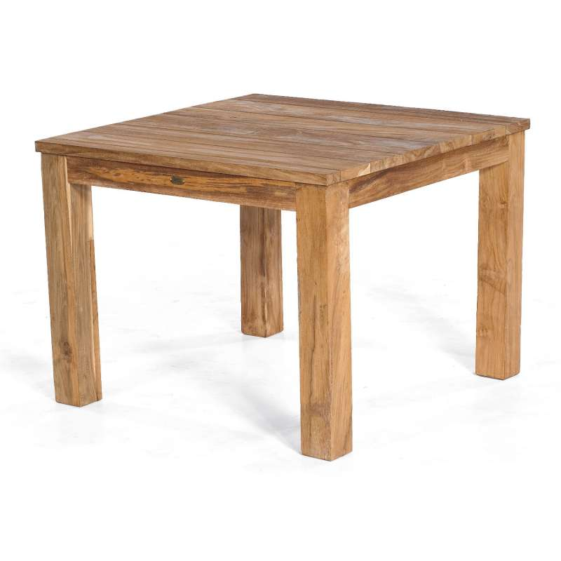 Sonnenpartner Gartentisch Charleston 100x100 cm Teakholz Old Teak Tisch Esstisch
