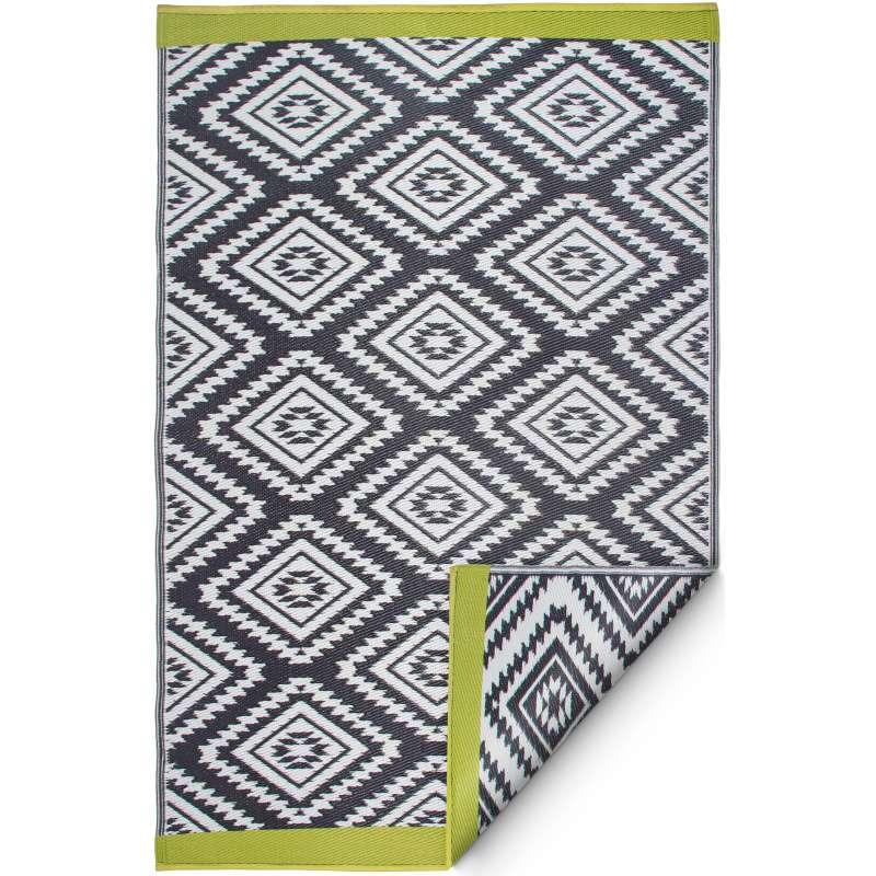 Fab Hab Outdoorteppich Valencia Gray aus recyceltem Plastik grau 240x300 cm