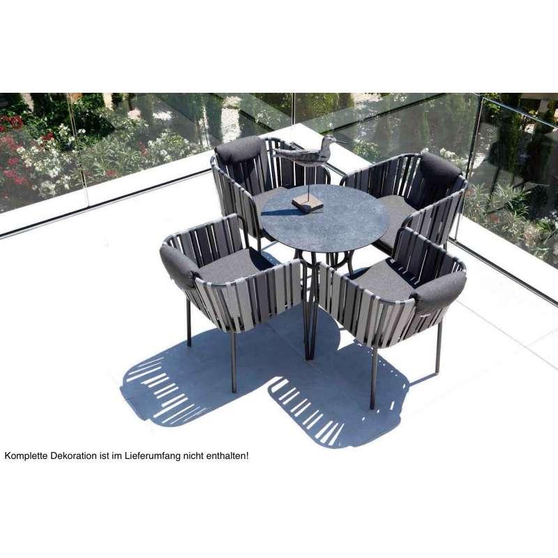 Stern Space Sitzgruppe 5 Teilig Gartenmöbelset Tischgruppe Anthrazit