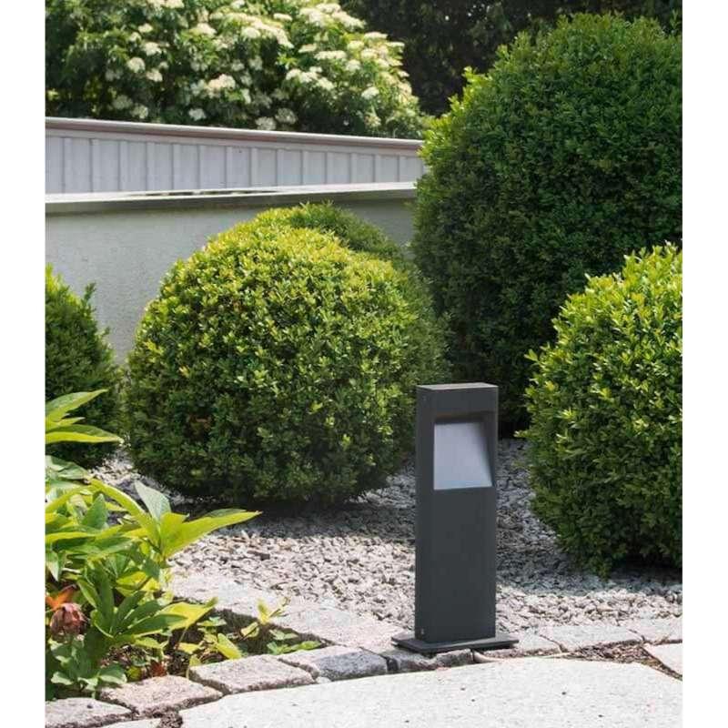 Heibi Wegeleuchte STRATO Aluminium graphitgrau/Klarglas 15x10x35 cm LED 3000 K Außenleuchte