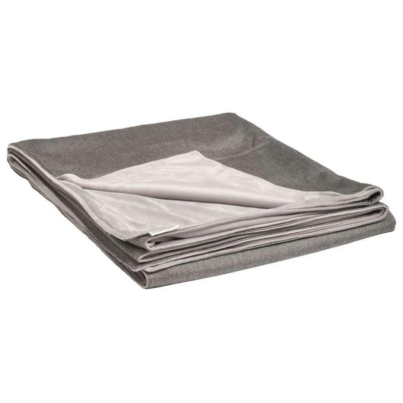 Stern Decke 158x200 cm Outdoorstoff seidengrau/Fleece hellgrau Kuscheldecke