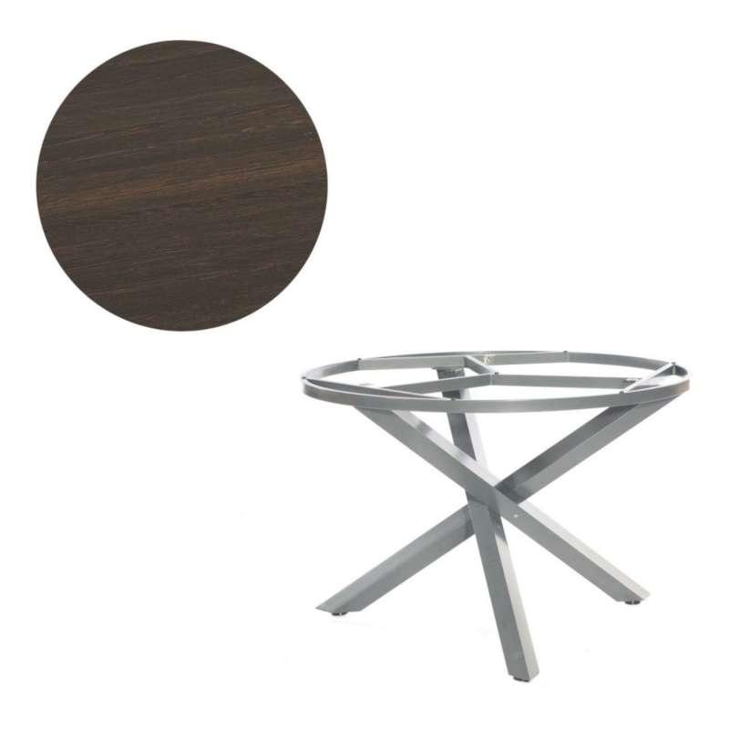 Sonnenpartner Gartentisch Base-Spectra rund Ø 100 cm Aluminium anthrazit Tischsystem mit wählbarer T