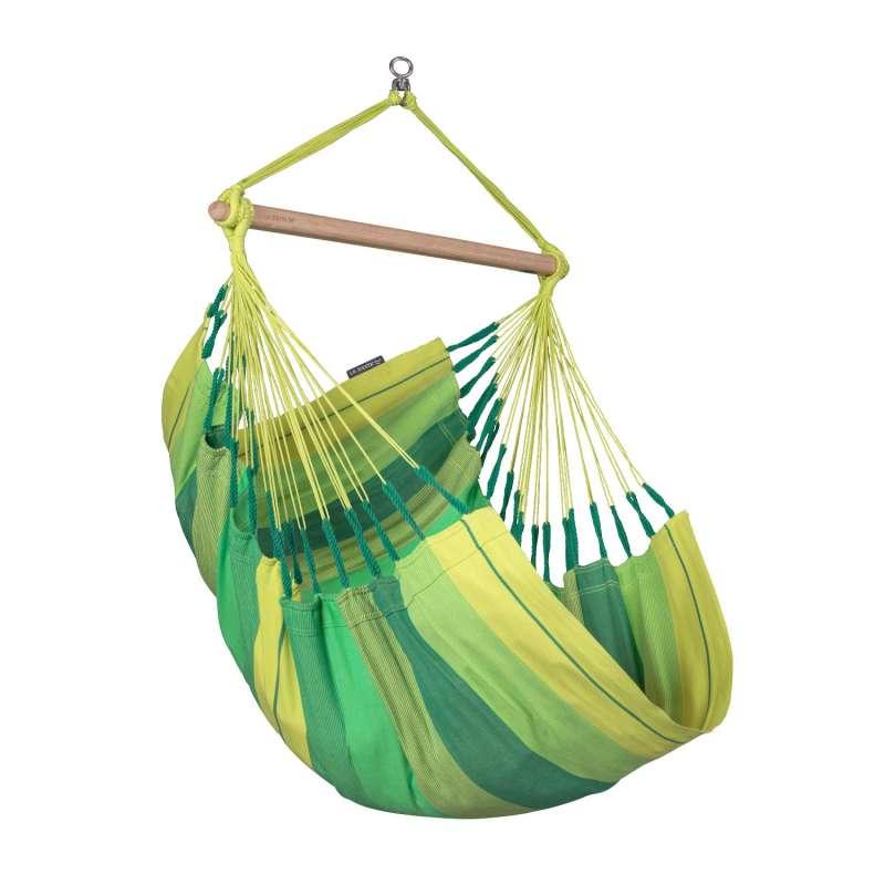 La Siesta Hängestuhl Bio-Baumwolle HABANA Basic jungle grün Lounger HAC14-44 optional mit Gestell