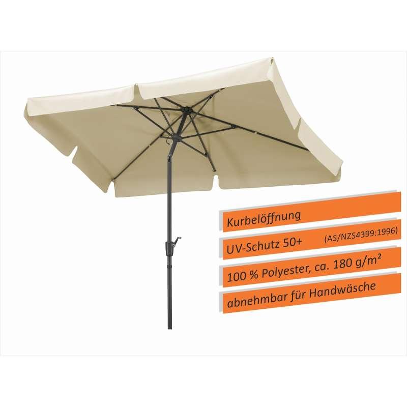 Schneider Schirme New York Sonnenschirm 270 x 150 cm Sonnenschutz natur Schirm