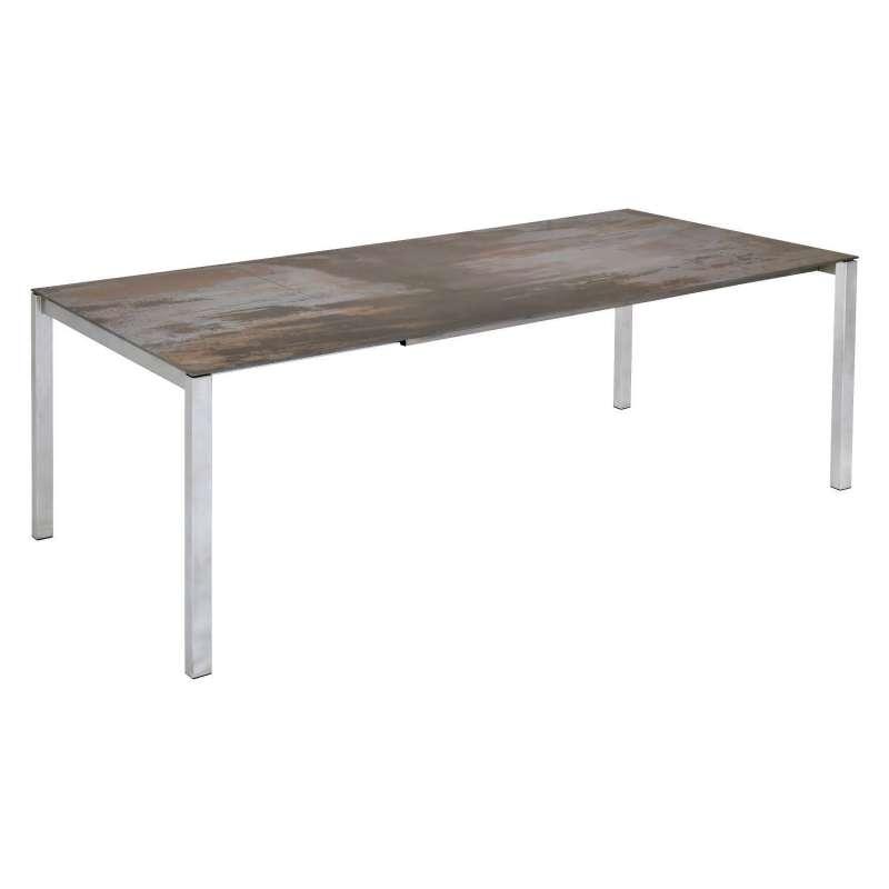 SIT Mobilia Gartentisch Etna Alpha Edelstahl/wählbare Tischplatte 300x95 cm Tisch Terrassentisch