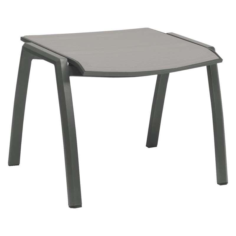 Stern Fußhocker Kari Aluminium anthrazit/Textilen silber Hocker Sitzhocker