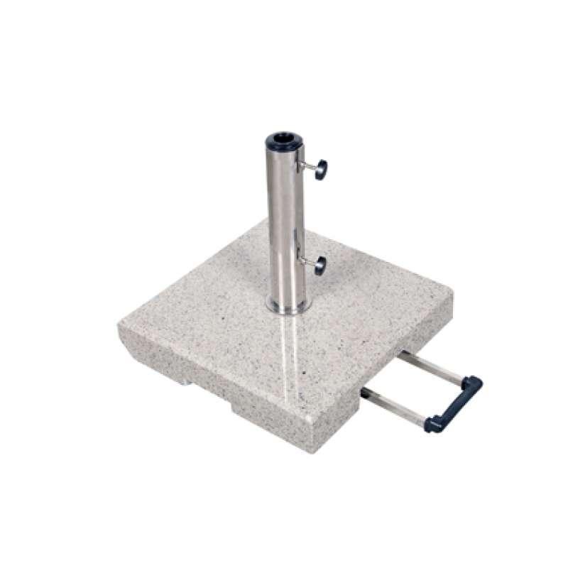 Doppler Trolley Granitsockel 40 kg für Rohr ø 32 x 60 mm Schirmsockel 45 x 45 x 8 cm