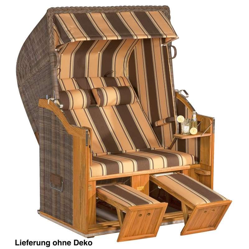 Sonnenpartner Strandkorb Classic 2 Sitzer Halbliegemodell naturoptik braun