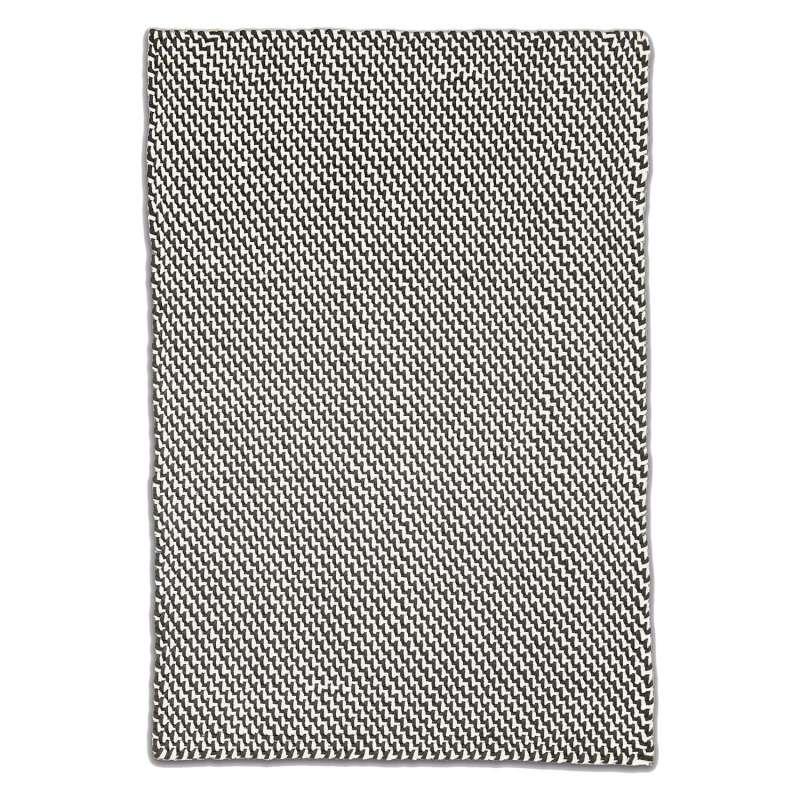 Fab Hab Outdoorteppich Asbury Charcoal&White aus recycelten PET-Flaschen anthrazit/weiß 240x300 cm