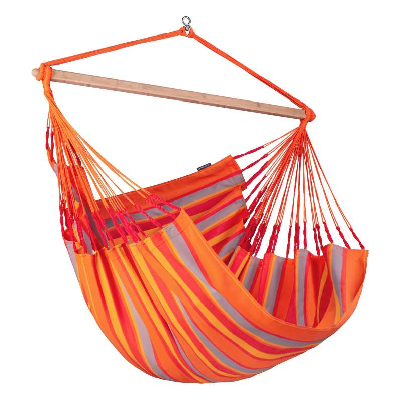 La Siesta Kingsize-Hängestuhl DOMINGO toucan orange Lounger DOL21-28 optional mit Gestell