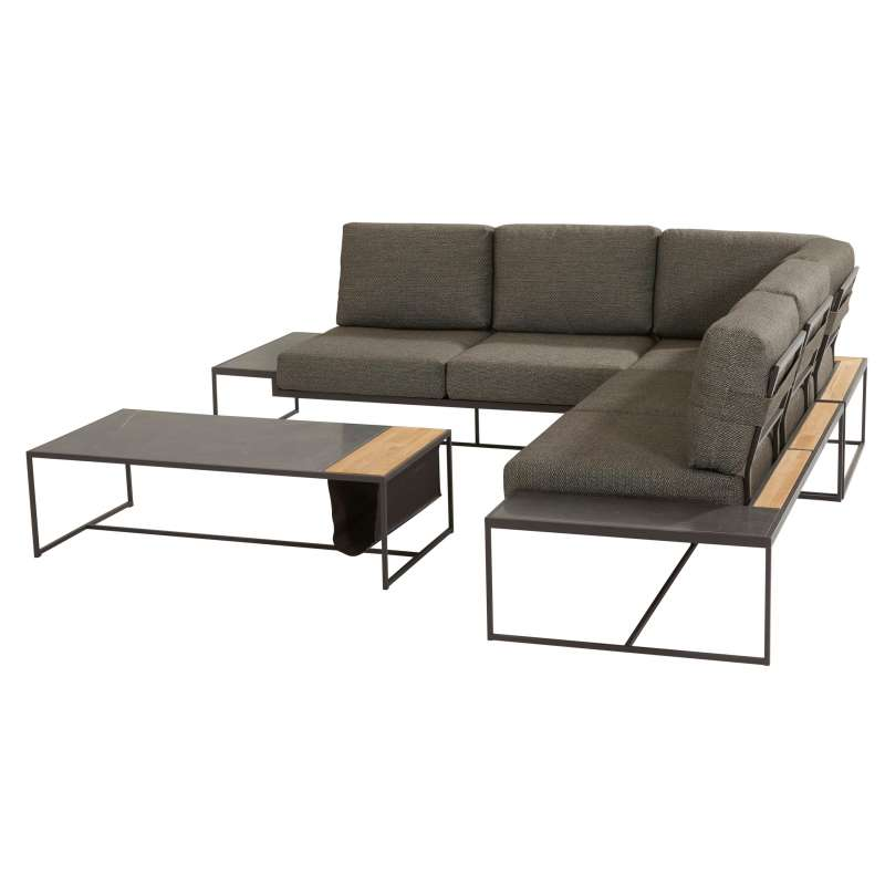 4Seasons Outdoor Patio Living 4-teilige Loungegruppe mit Tisch Anthrazit
