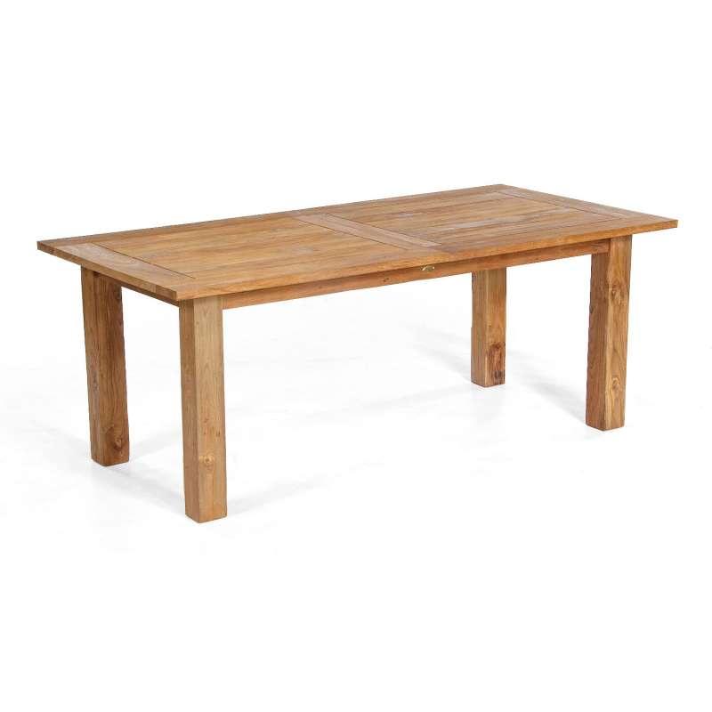 Sonnenpartner Gartentisch Charleston ausziehbar 200/260x100 cm Teakholz Old Teak Tisch Esstisch