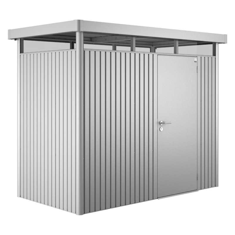 Biohort Gartenhaus Highline® mit Standardtür silber-metallic 6 verschiedenen Größen Gerätehaus