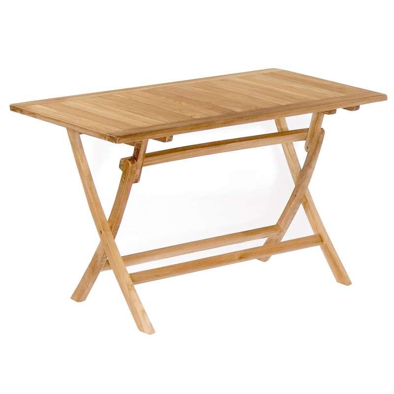 SunnySmart Teakholz-Klapptisch Perth natur Tisch 120x70 cm Balkontisch