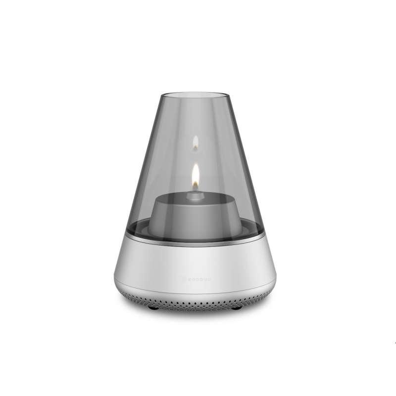 KOODUU Nordic Light Pro Silver Öllampe Teelichhalter Bluetooth Lautsprecher