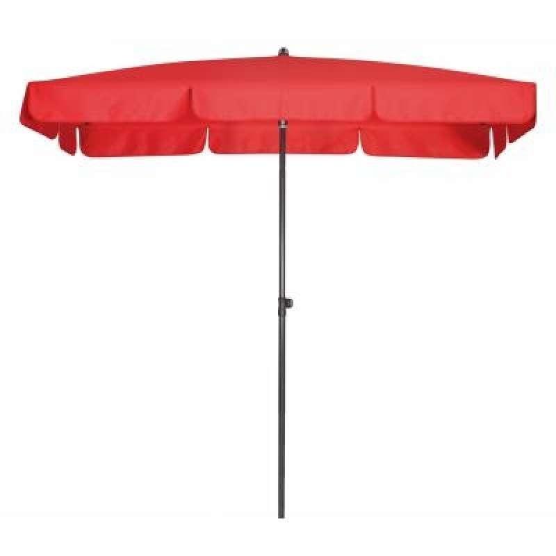 Doppler Sunline Waterproof 185 x 120 cm Rot Sonnenschirm Gartenschirm Sonnenschutz