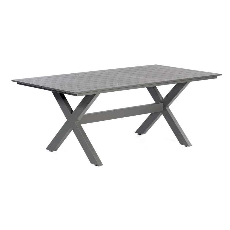 SunnySmart Gartentisch Topas Aluminium anthrazit Tisch 200x100 cm