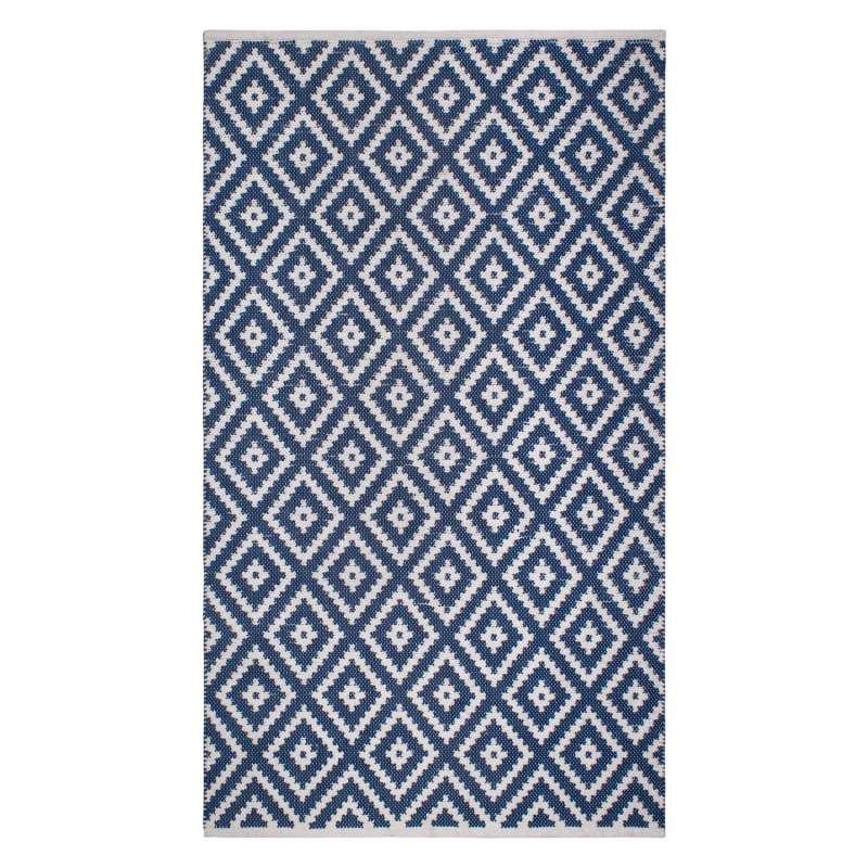 Fab Hab Outdoorteppich Chanler Blue aus recycelten PET-Flaschen blau 90x150 cm