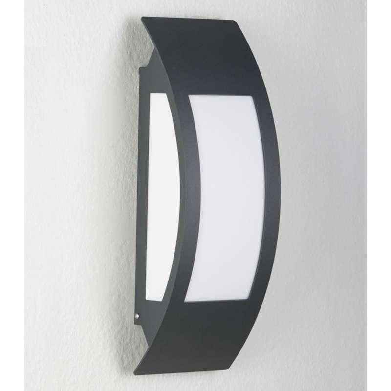 Heibi Wandleuchte PERIA Edelstahl grau RAL 7016/Acrylglas Opaloptik 17x11x47 cm E27 Außenleuchte