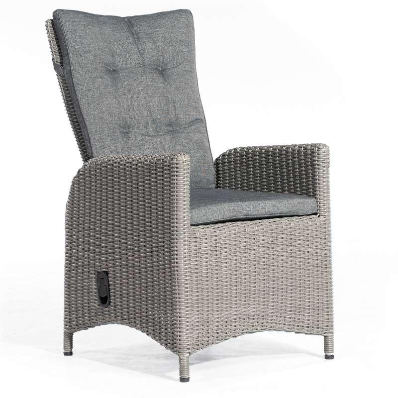 SunnySmart Dining-Sessel Para-Plus Aluminium mit Kunststoffgeflecht rustic-vintage Gartenstuhl