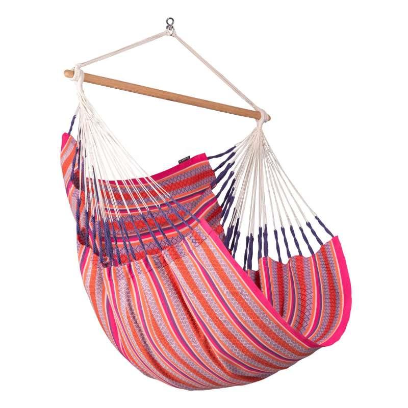 La Siesta Hängestuhl Bio-Baumwolle HABANA Comfort flamingo pink Lounger HAL18-X2 optional mit Gestel