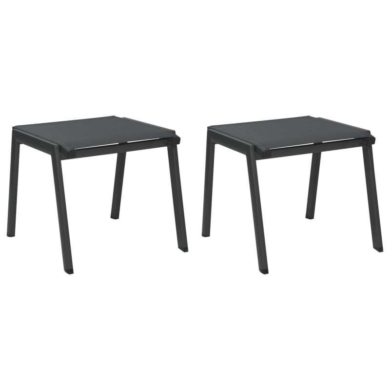 Stern 2er-Set Fußhocker Allround Aluminium anthrazit/karbon Sitzhocker Hocker