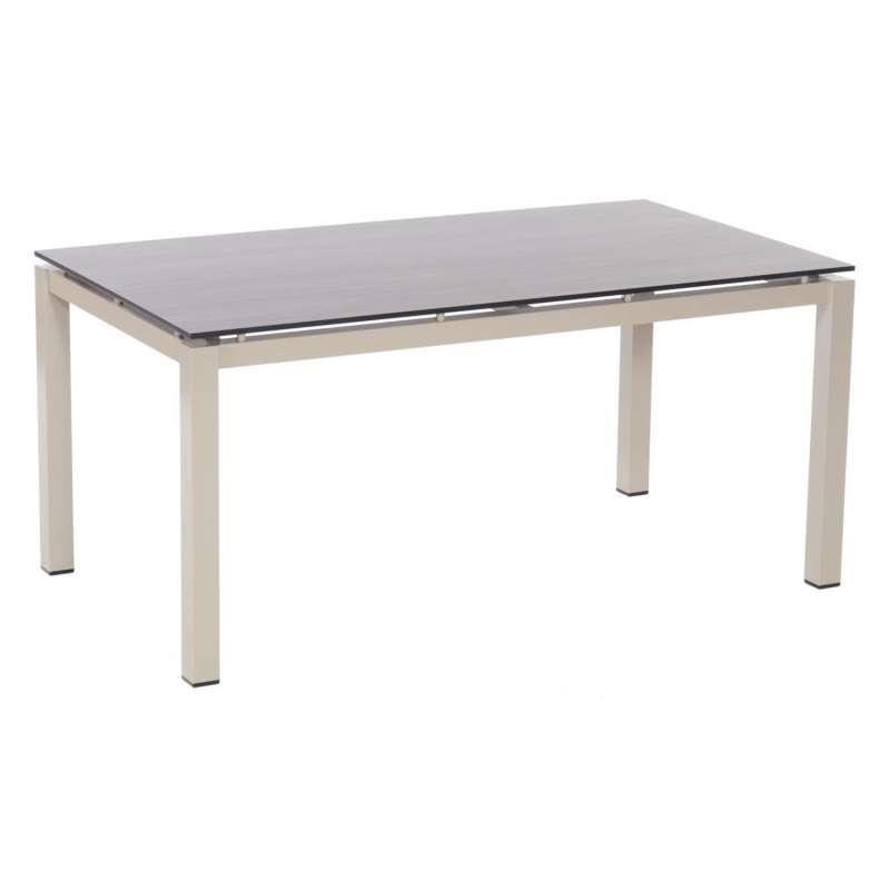 Sonnenpartner Gartentisch Base 160x90 cm Aluminium champanger Tischsystem mit wählbarer Tischplatte