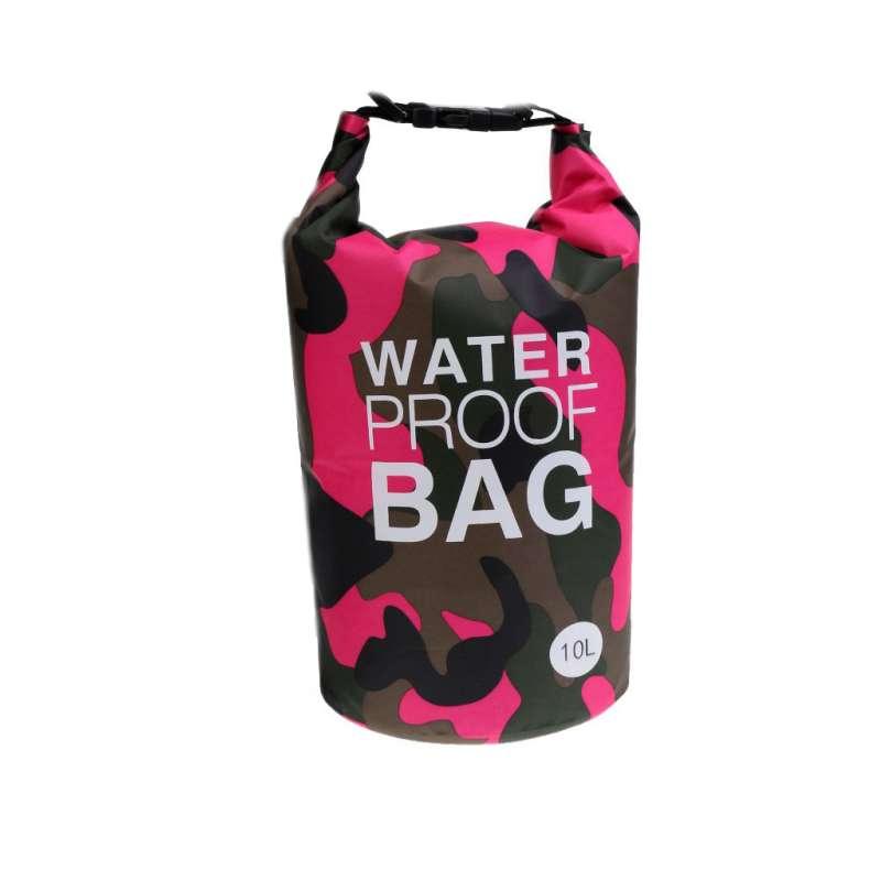 Drybag 10L Tasche 10 Liter wasserdicht Packsack Camouflage pink Water proof Softcase