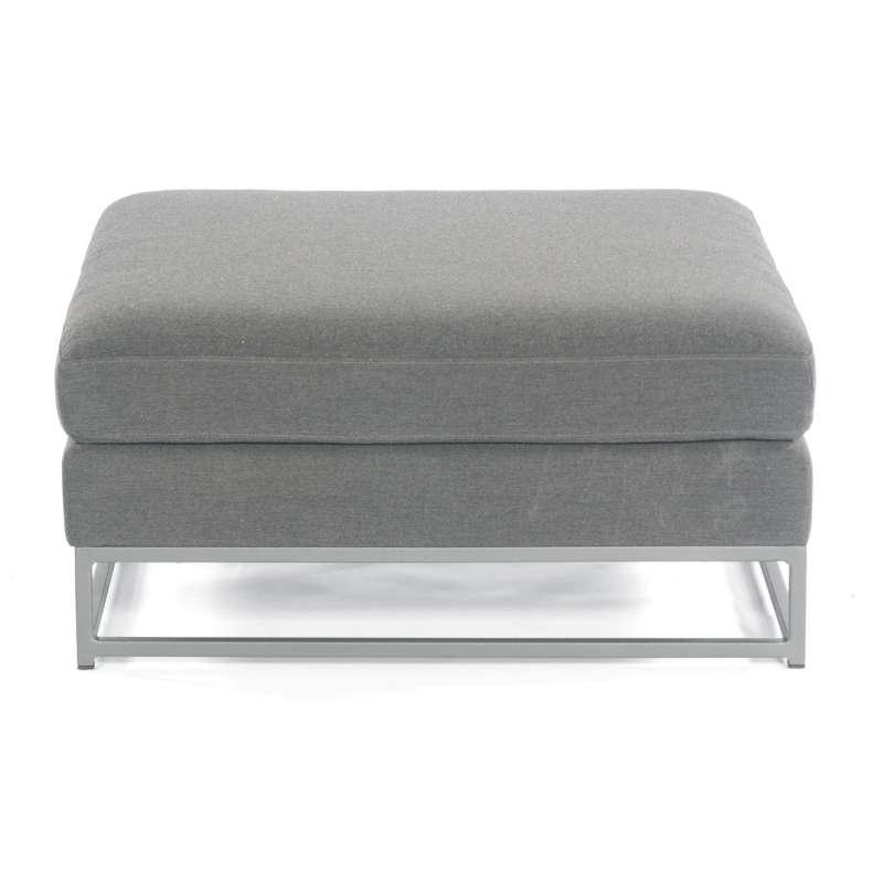 Sonnenpartner Lounge-Hocker Unique Aluminium mit Kissen anthrazit Loungesessel Sunbrella