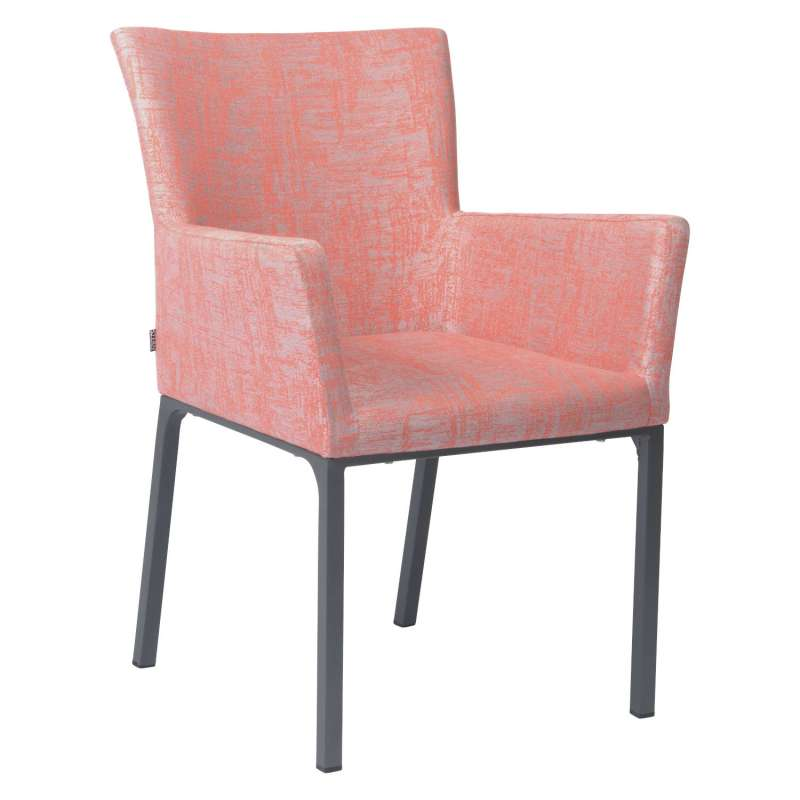 Stern Dining-Sessel Artus Aluminium anthrazit/ Outdoorstoff koralle seidengrau Loungesessel Gartense