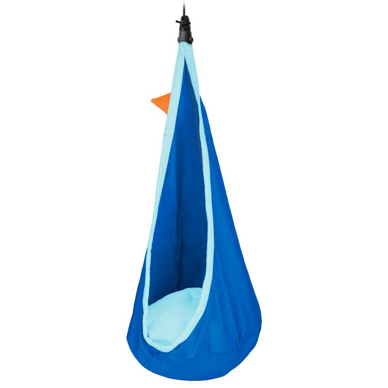 La Siesta Kinder-Hängehöhle JOKI dolphy blau aus Bio-Baumwolle inkl. Befestigungsmaterial