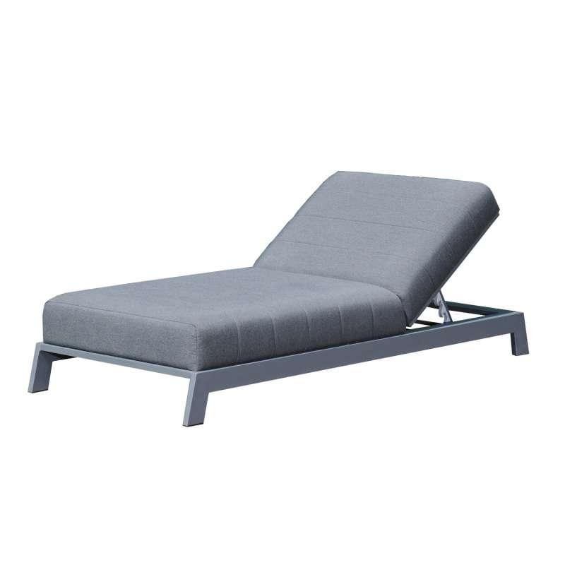 Sonnenpartner Lounge-Liege Divine Aluminium mit Polsterung anthrazit Gartenliege Sunbrella Sonnenlie