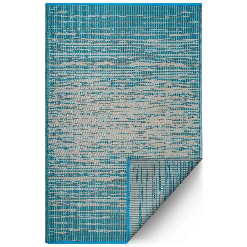 Fab Hab Outdoorteppich Brooklyn Teal aus recyceltem Plastik petrol/türkis wetterfest 120x180 cm