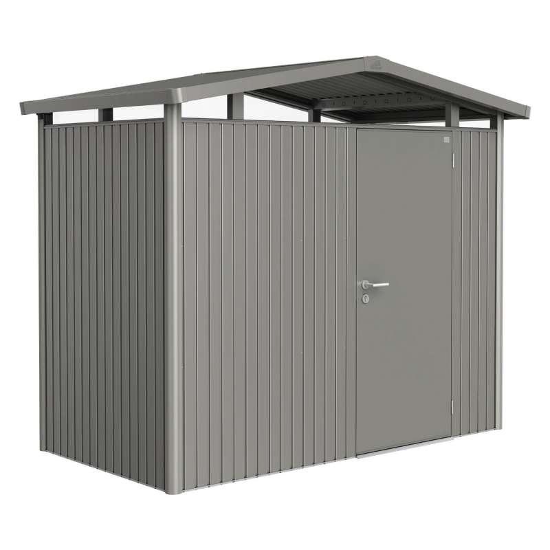Biohort Gartenhaus Panorama® mit Standardtür quarzgrau-metallic 5 verschiedenen Größen Gerätehaus