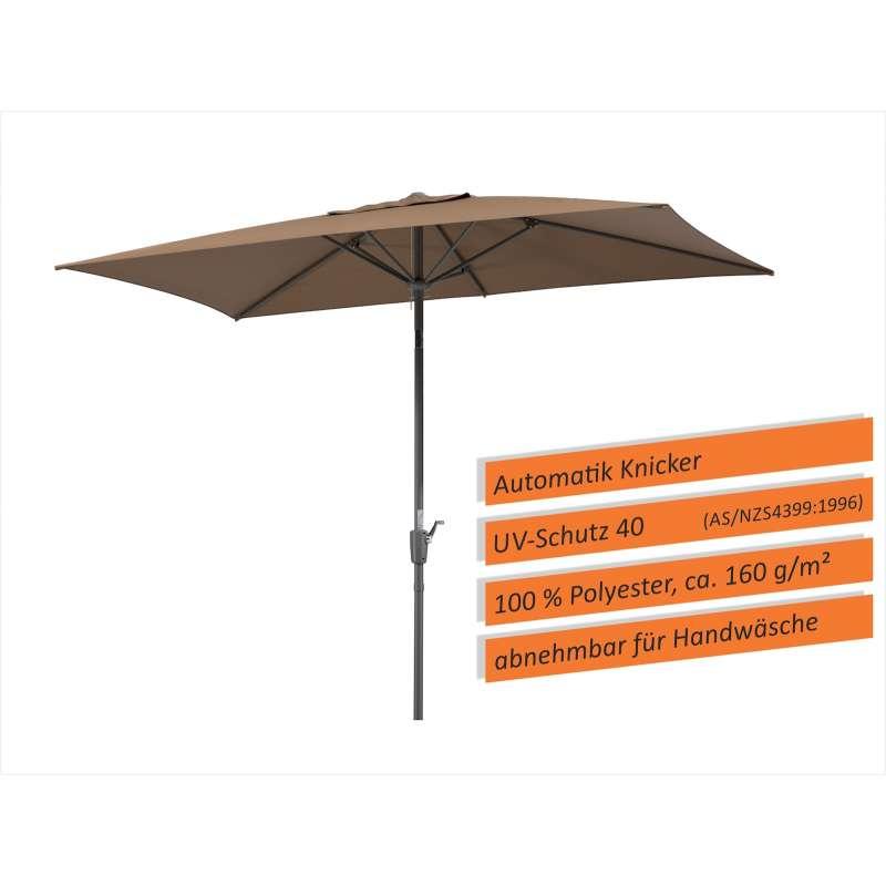 Schneider Schirme Tunis Sonnenschirm 270 x 150 cm Mittelmastschirm mocca Balkonschirm