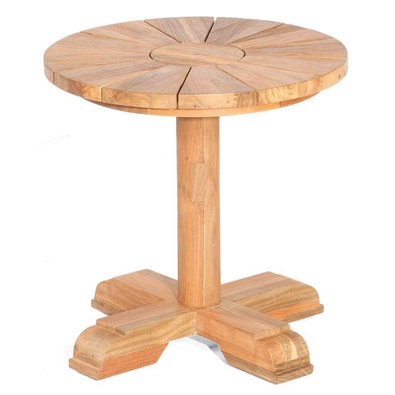 Sonnenpartner Gartentisch Solis rund Ø 50 cm Teakholz Old Teak Tisch Esstisch