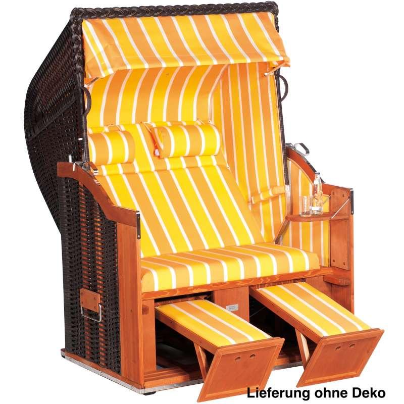 Sonnenpartner Strandkorb Classic 2 Sitzer Halbliegemodell inkl Ausstattung