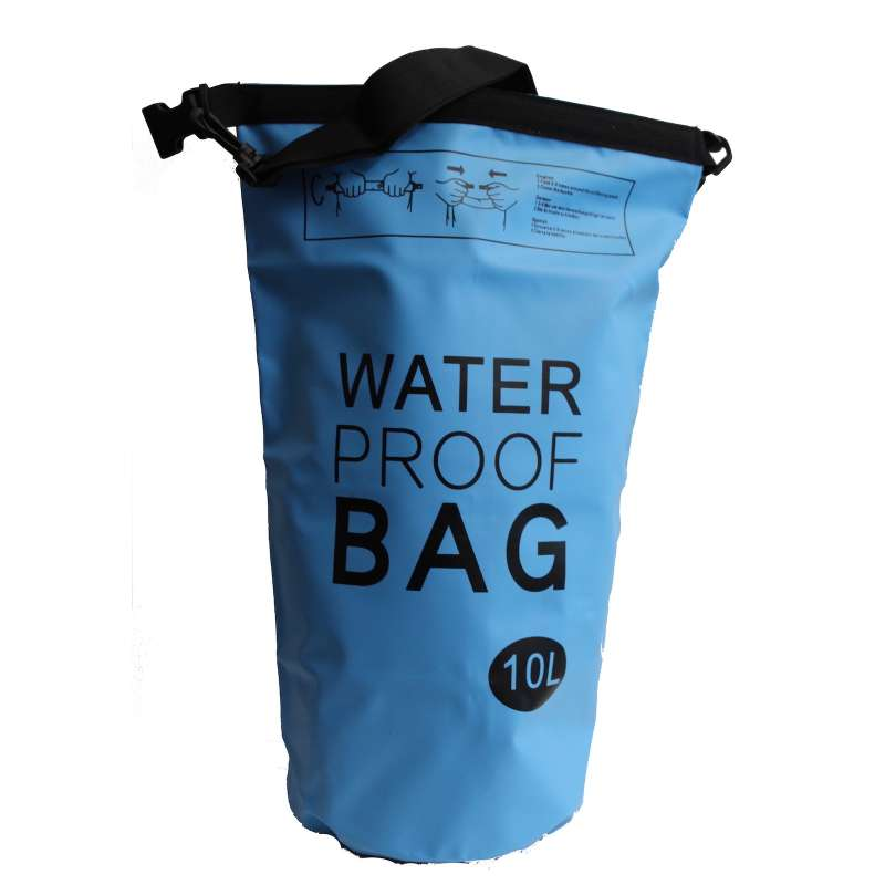 Drybag 10L Tasche 10 Liter wasserdicht Packsack blau Water proof Softcase Beutel