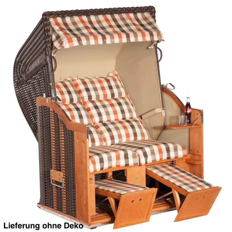 Sonnenpartner Strandkorb Classic 2 Sitzer Halbliegemodell inkl. Ausstattung