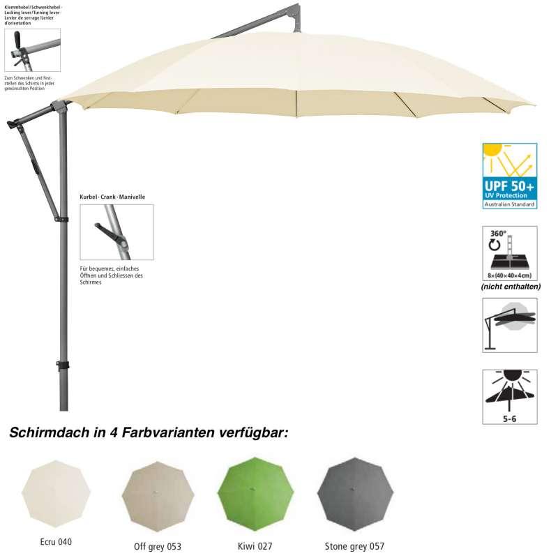 Sonnenschirm SUNCOMFORT® by Glatz Pendolino ø 300 cm 4 Farbvarianten