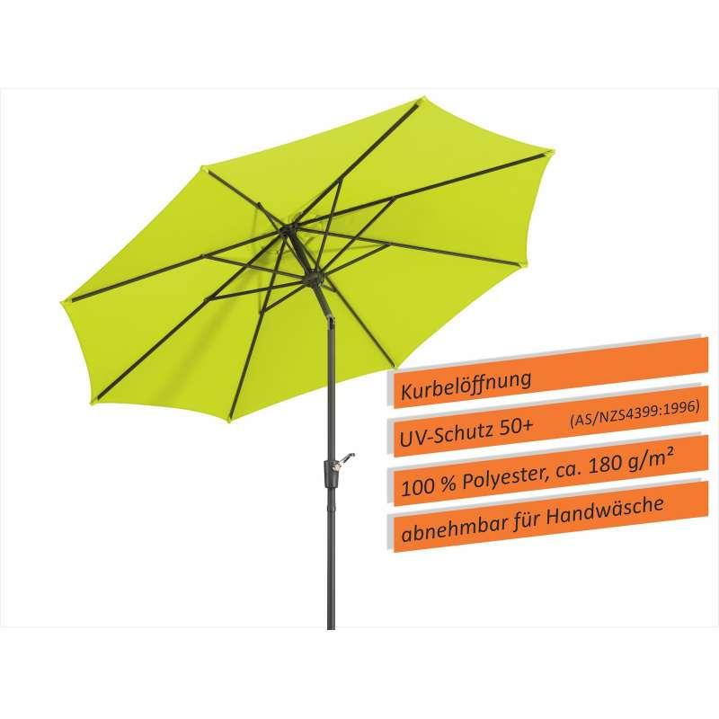 Schneider Schirme Harlem Mittelmastschirm ø 270 cm apfelgrün Sonnenschirm Balkon
